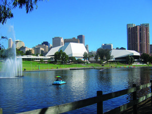 Adelaide city skyline