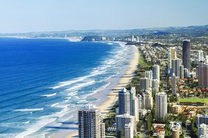 Gold coast city and beach