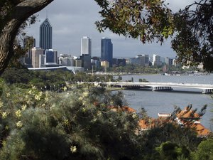 Perth city skyline